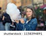 outdoor portrait of beautiful... | Shutterstock . vector #1158394891
