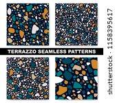 set of seamless terrazzo...   Shutterstock .eps vector #1158395617