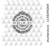 wildcat grey badge with... | Shutterstock .eps vector #1158396004