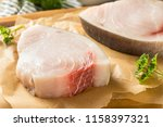 Raw Organic Swordfish Steak Filets Ready to Cook