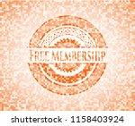 free membership abstract orange ... | Shutterstock .eps vector #1158403924