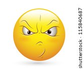 smiley emoticons face vector  ... | Shutterstock .eps vector #115840687