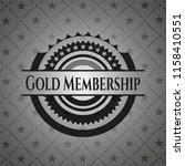 gold membership realistic black ... | Shutterstock .eps vector #1158410551