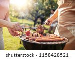 close up of a man and woman... | Shutterstock . vector #1158428521