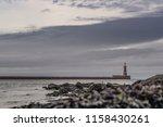 roker lighthouse in sunderland. ...   Shutterstock . vector #1158430261