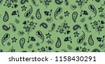 seamless paisley pattern in... | Shutterstock .eps vector #1158430291