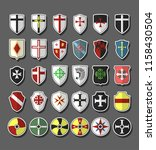 vector set of medieval knights... | Shutterstock .eps vector #1158430504