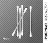 set of realistic cotton buds.... | Shutterstock .eps vector #1158430714