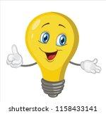 light bulb character cartoon... | Shutterstock .eps vector #1158433141
