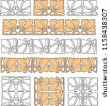 vector decorative elements in... | Shutterstock .eps vector #1158438307