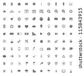 set of icons for designers