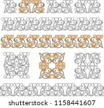 vector image of design elements ... | Shutterstock .eps vector #1158441607