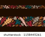 autumn hand drawn seamless... | Shutterstock .eps vector #1158445261