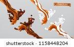 caramel milk and chocolate.... | Shutterstock .eps vector #1158448204