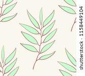 eucalyptus seamless pattern ... | Shutterstock .eps vector #1158449104