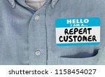 hello im a repeat customer name ... | Shutterstock . vector #1158454027