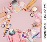 frame made of female accessory... | Shutterstock . vector #1158454591