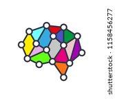 artificial intelligence brain... | Shutterstock .eps vector #1158456277