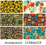 six business card covers with... | Shutterstock .eps vector #115846219