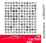 car part icons set. vector... | Shutterstock .eps vector #115846297