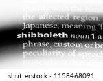 Small photo of shibboleth word in a dictionary. shibboleth concept.