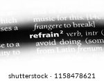 refrain word in a dictionary.... | Shutterstock . vector #1158478621