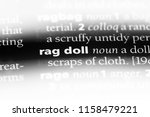rag doll word in a dictionary....   Shutterstock . vector #1158479221