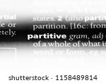 partitive word in a dictionary. ... | Shutterstock . vector #1158489814