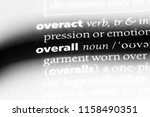 overall word in a dictionary.... | Shutterstock . vector #1158490351