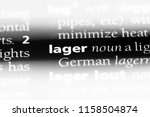 lager word in a dictionary.... | Shutterstock . vector #1158504874