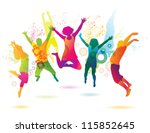 young people on the party .... | Shutterstock .eps vector #115852645