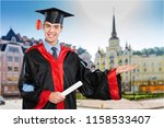 student with diploma | Shutterstock . vector #1158533407