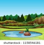a beautiful nature landscape... | Shutterstock .eps vector #1158546181
