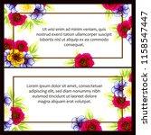 vintage delicate greeting... | Shutterstock . vector #1158547447