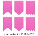 pink retro ribbons a tags | Shutterstock .eps vector #115854895