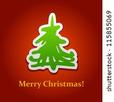 a square christmas card with... | Shutterstock .eps vector #115855069