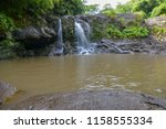 Tropical Waterfall On The...