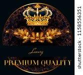 luxury vector logotype or menu... | Shutterstock .eps vector #1158556351