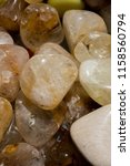 tumbled scitrine gem stone as ... | Shutterstock . vector #1158560794