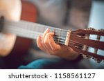 close up images of girl playing ... | Shutterstock . vector #1158561127