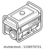 a portable petrol gasoline... | Shutterstock .eps vector #1158570721