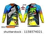 long sleeve motocross jerseys t ...   Shutterstock .eps vector #1158574021