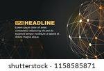digital earth  dot line...   Shutterstock .eps vector #1158585871