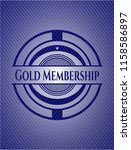 gold membership emblem with... | Shutterstock .eps vector #1158586897