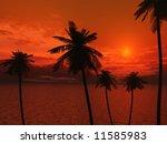 beautiful sunset | Shutterstock . vector #11585983