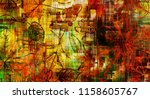 art graphic and watercolor... | Shutterstock . vector #1158605767
