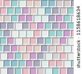 colorful geometric square... | Shutterstock .eps vector #1158618634