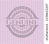 genuine badge with pink... | Shutterstock .eps vector #1158622207