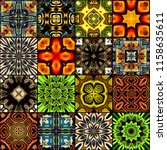 art colorful vintage seamless... | Shutterstock . vector #1158635611