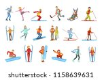 people and winter sports... | Shutterstock .eps vector #1158639631
